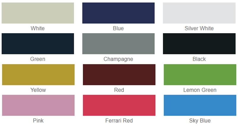 Bảng màu của xe ô tô điện du lịch 8 chỗ LT-A627.6+2