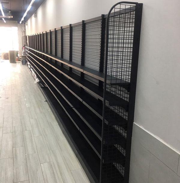 Kệ siêu thị áp tường cho cửa hàng tiện lợi