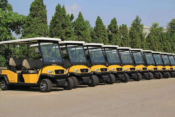 Xe điện chở khách sử dụng tại khu du lịch