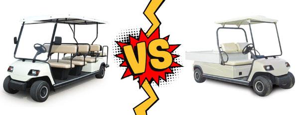 Sự khác nhau giữa xe điện chở khách và xe điện chở hàng