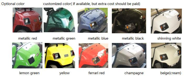 Sắc màu phong phú của các mẫu ô tô điện chở khách tham quan 8 chỗ