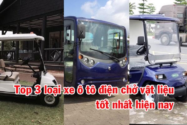 xe ô tô điện chở vật liệu