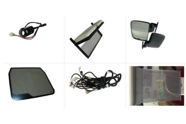 Hệ thống chiếu sáng và kính của xe điện chở hàng
