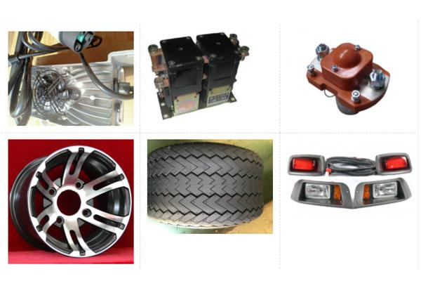 Mâm và bánh xe cùng các phụ tùng khác của xe điện chở hàng