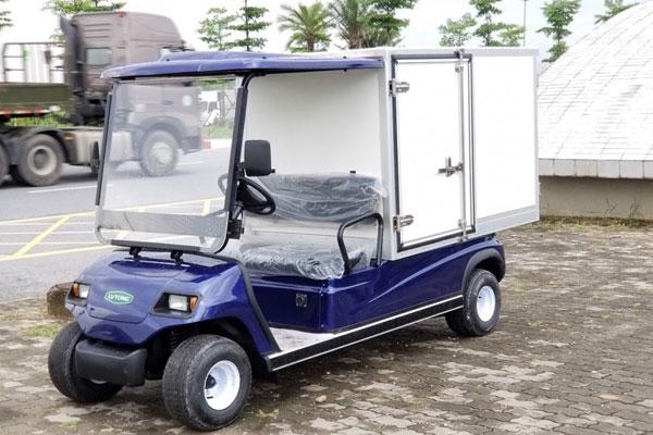 Mẫu ô tô điện chở vật liệu cỡ nhỏ kiểu thùng kín