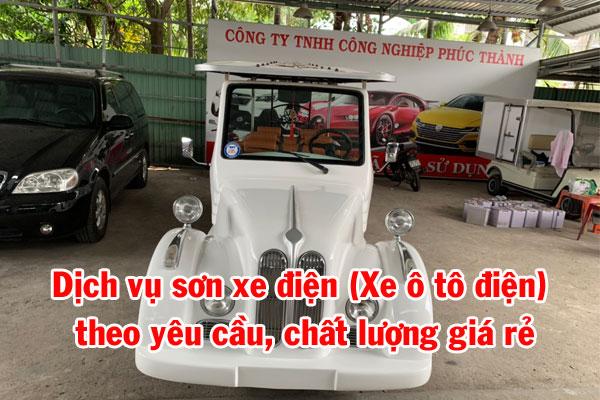 Dịch vụ sơn xe điện (Xe ô tô điện) theo yêu cầu, chất lượng giá rẻ